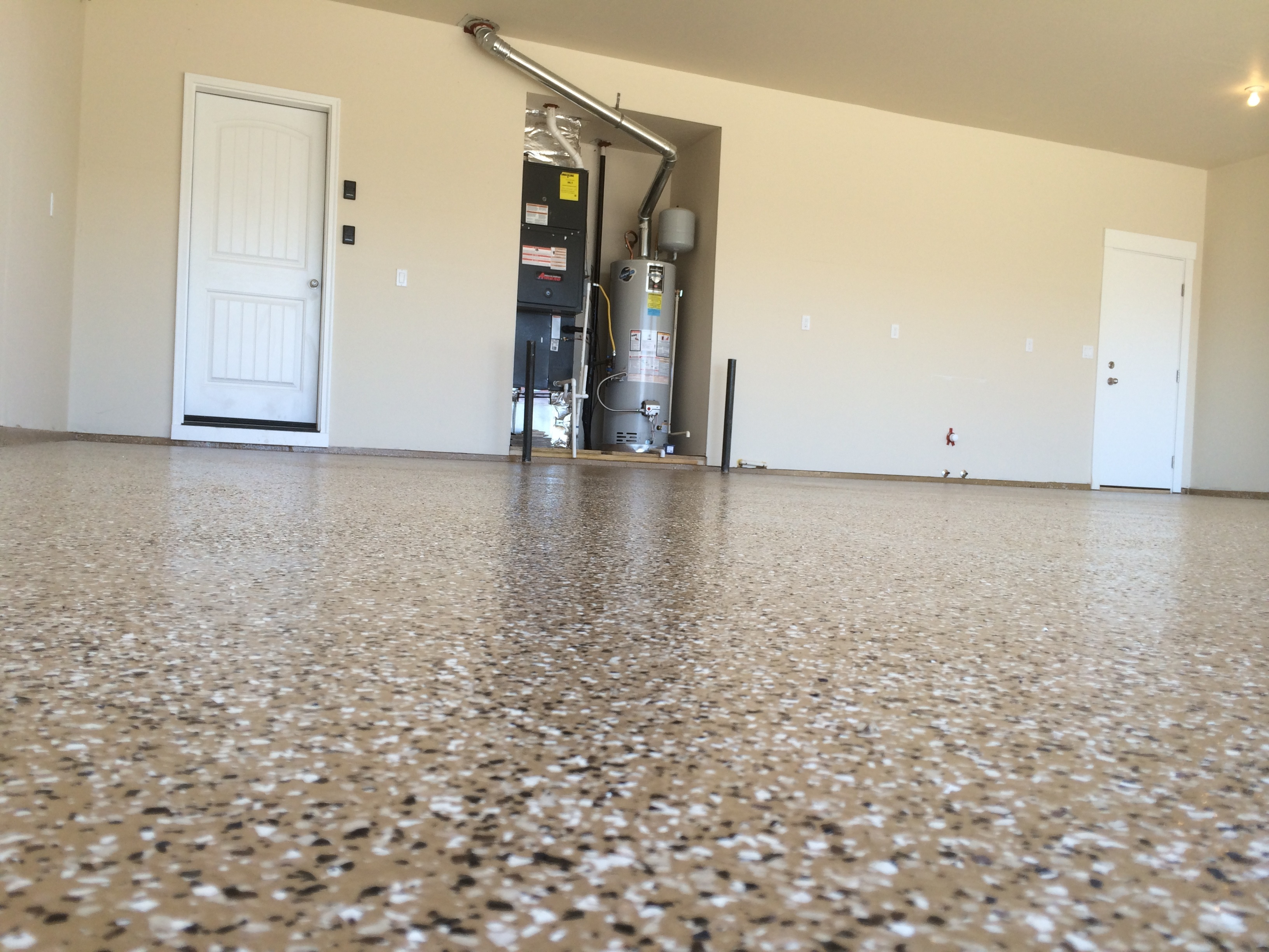 epoxy floor coating a garage in eagle idaho - How To Epoxy Garage Floor